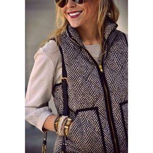 J Crew Excursion Herringbone Puffer Vest for sale